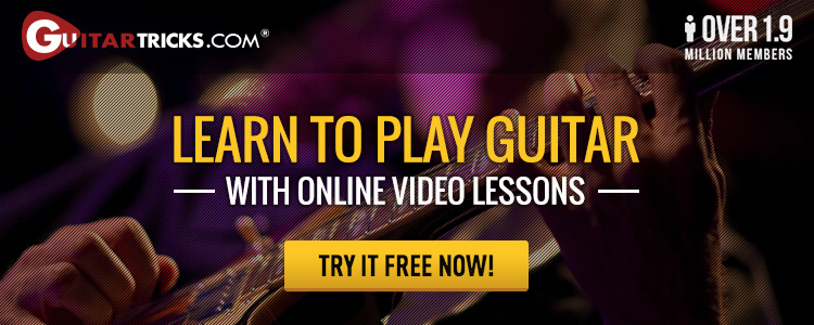 Learn to play guitar with online video lessons. Try it free now!