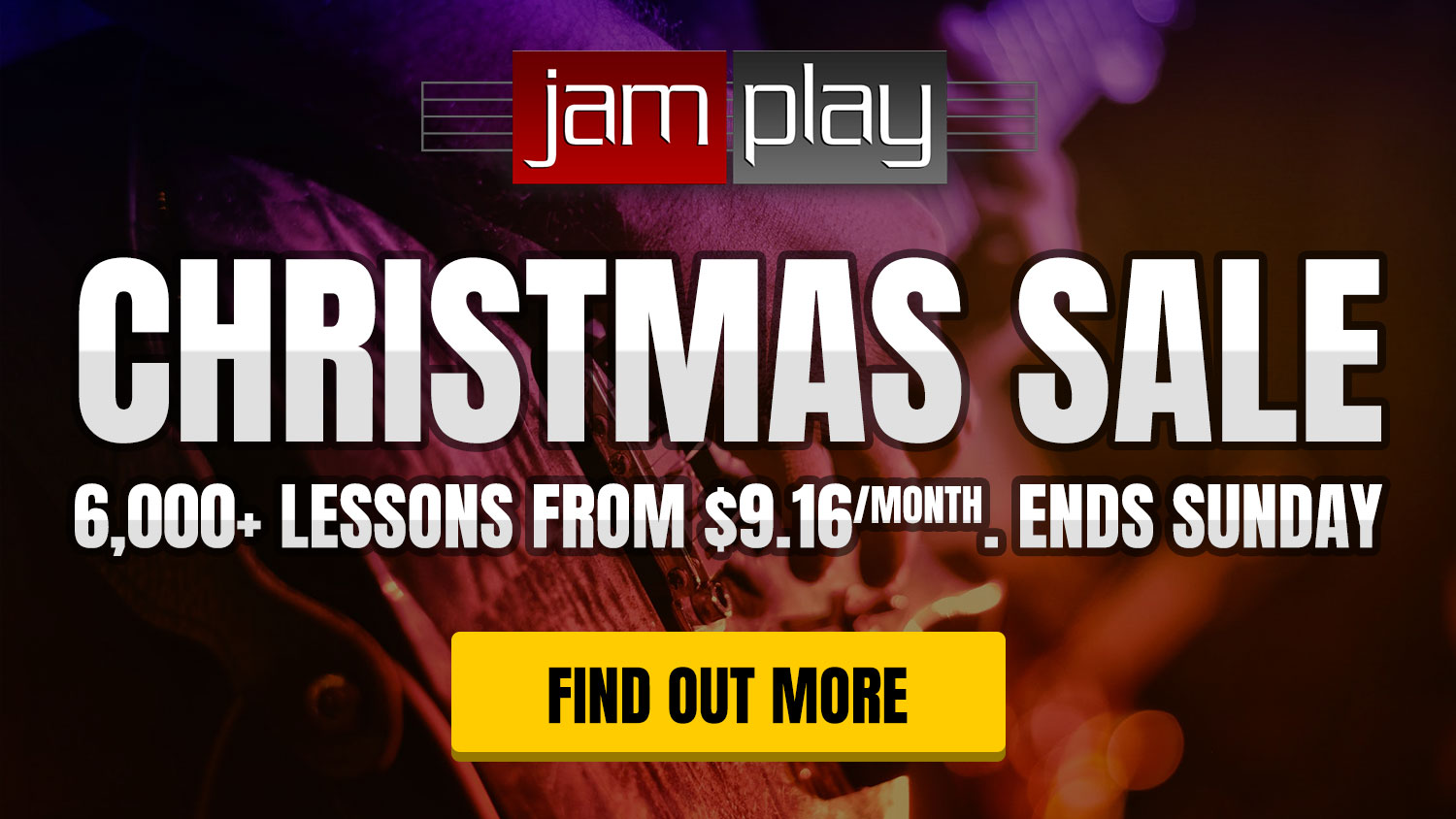 Christmas Sale! Ends 1st Jan 2020